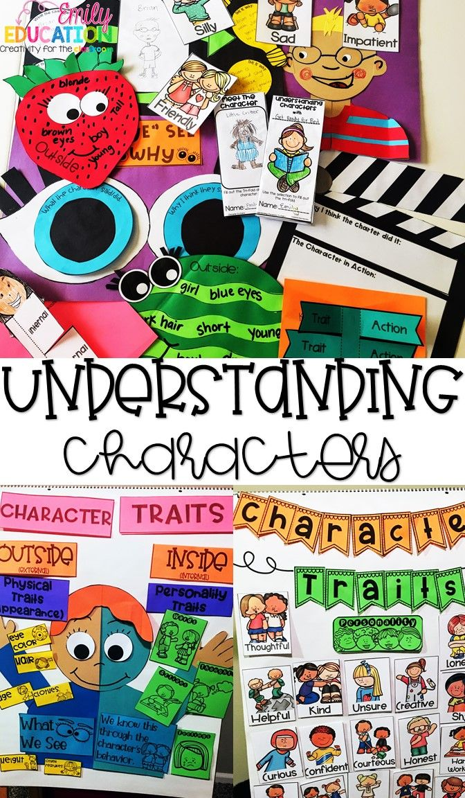 Understanding Characters. Character Trait Unit that can be used with ANY BOOK! Anchor charts, posters, crafts, printables, and more!