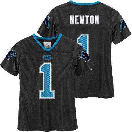 NFL Carolina Panthers Girls Cam Newton Jersey, Size: Medium, Blue