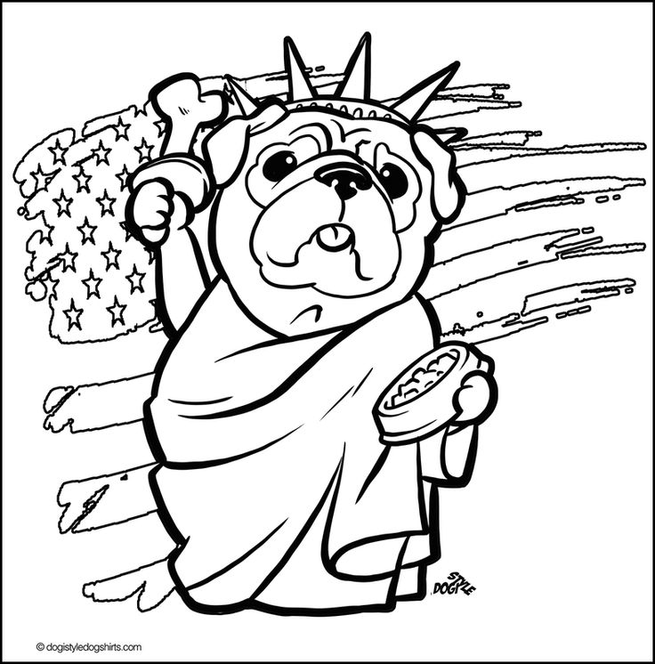 Pug coloring pages to download and print for free | Puppy ...