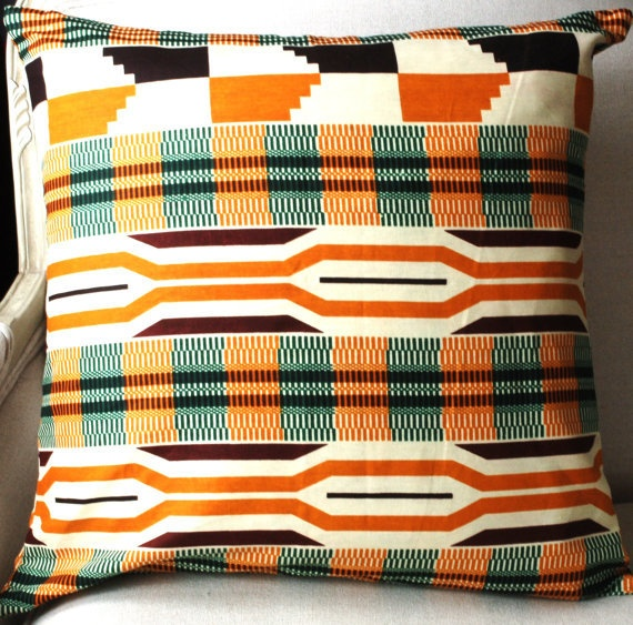 Summer Kente Tribal Pillow Conver: Pillows Covers, Decor Ideas, African Clothing, Kent Tribal, Pillow Covers, Tribal Pillows, African Style Decor, Summer Kent, Style Tribal