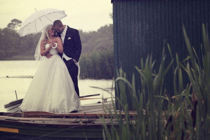 Couple next to the Dromoland's lake