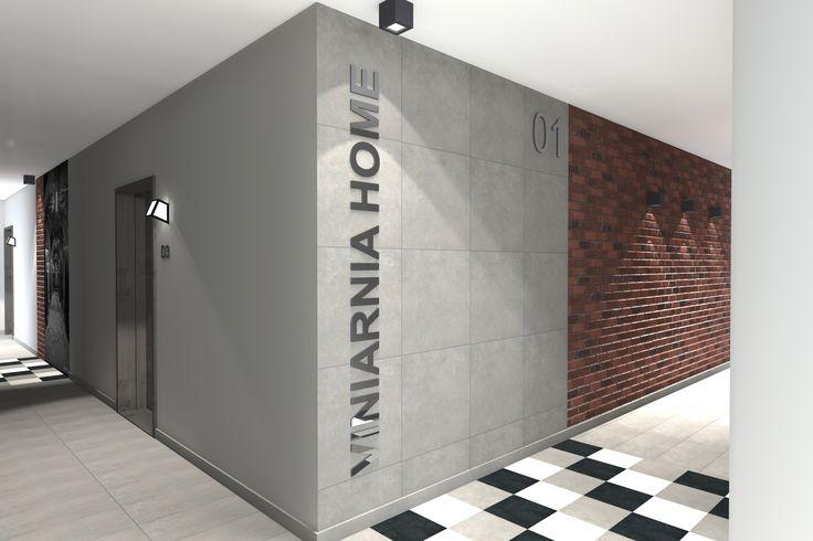 Wizualizacja klatek schodowych na osiedlu Viniarnia Home przy ul. S. Moniuszki 8a-d w Zielonej Górze dla firmy Ekonbud. Projekt arch. Justyna Duda