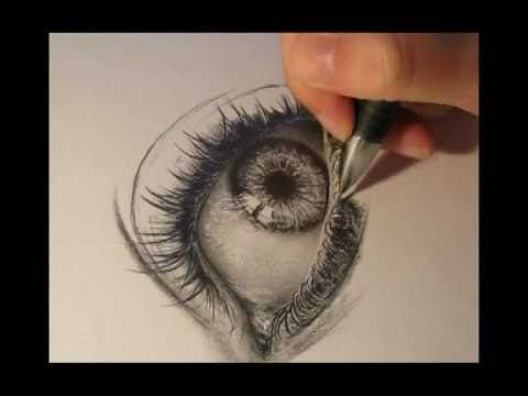Drawing a Realistic eye with pencil -- we artists have to know how to draw an eye if we draw or paint portraits.