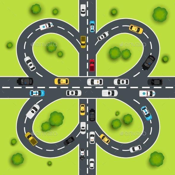 Highway Traffic Illustration