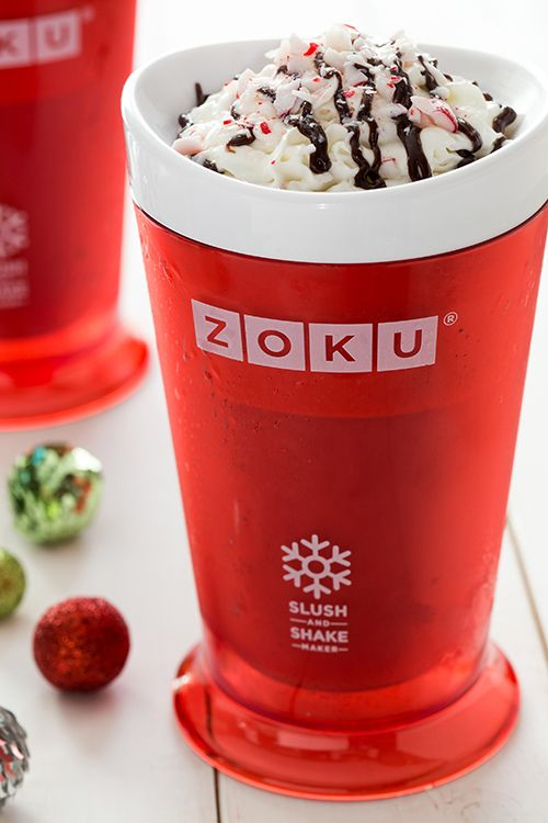 'Tis the season for Peppermint Mocha Shakes. Try our newest recipe with your #Zoku Slush & Shake Maker. #peppermint #dessert #recipe #mocha #ZokuHQ