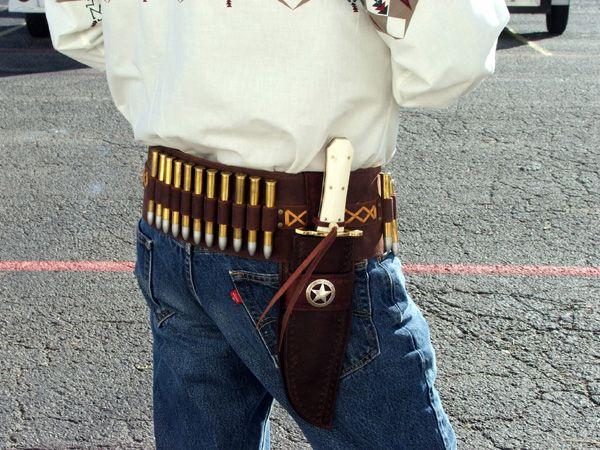 Handmade 44//45 TOOLED Cartridge Belt Holster LEATHER Western RIG Gun Belt SASS