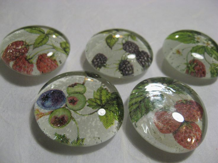 Floral glass homemade magnets