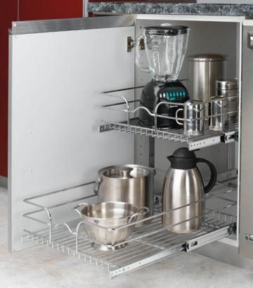 kitchen organizationKitchens Organic, Baskets 22, 5Wb2 1822, Rev A Shelf, Double Pulled Out, Chrome Wire, Wire Baskets, Double Pullout, Revashelf 5Wb21822Cr