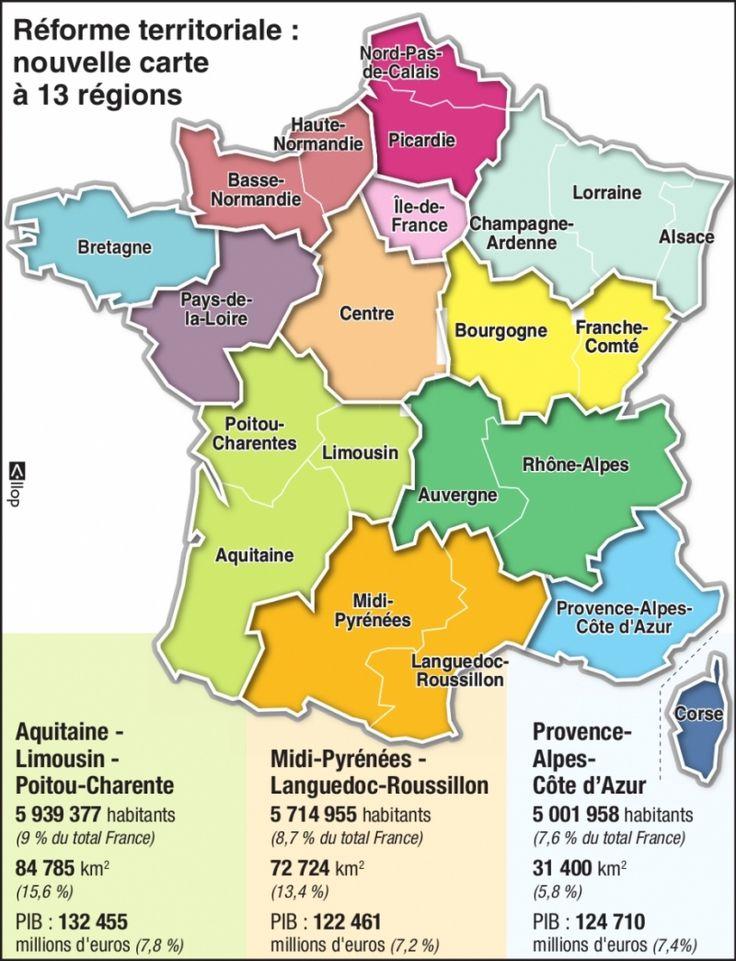 nouvelle carte à 13 régions