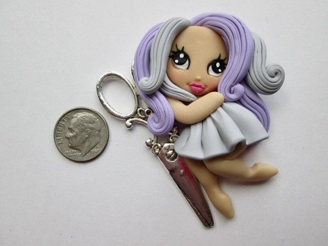 Needle Minder ~ Scissors Girl #1 (ONE OF A KIND!)