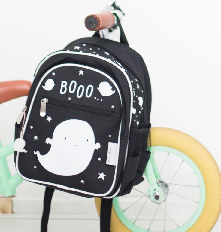 Ghost backpack from from Kids Boetiek zwarte rugzak spookje