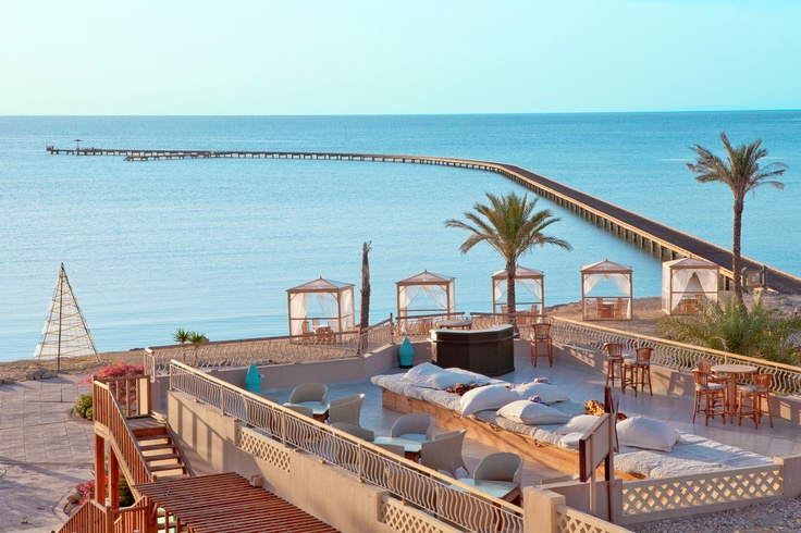 Beautiful roof view and romantic beach cabanas