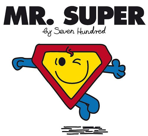 Recogedor: Mr. Men - Superhéroes y Villanos