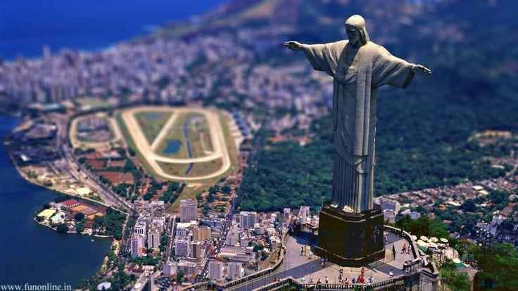 Christ the Redeemer, Rio de Janeiro - RJ, Brazil #britairtrans #tiltshift
