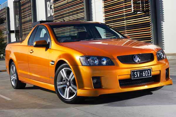 The massive Holden Commodore Ute, holds both class and power.