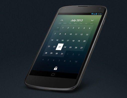 Minimalistic Calendar Widget