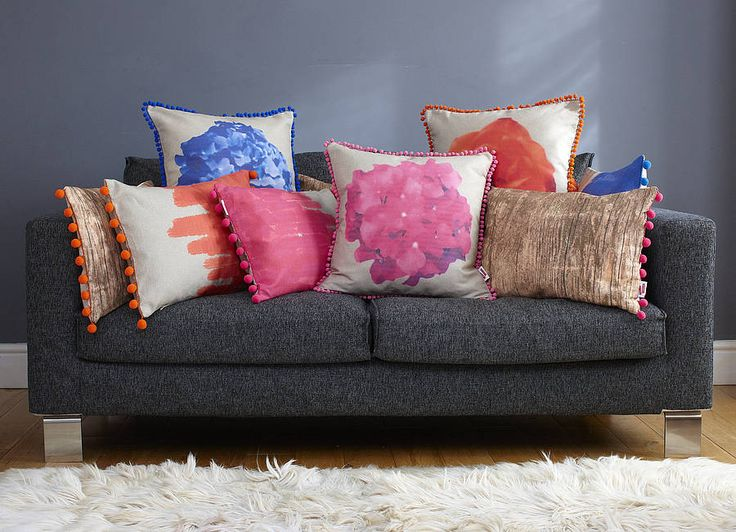 painted cushion by catherine colebrook | notonthehighstreet.com
