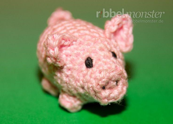 """Amigurumi - Kleines Schwein häkeln """"Glücksschwein"""" - Amigurumi Tiere häkeln"""