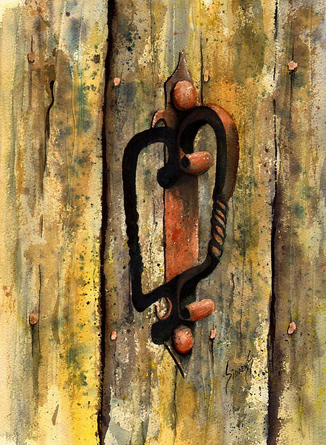 Wrought Iron Handle Painting by Sam Sidders - Wrought Iron Handle Fine Art Prints and Posters for Sale