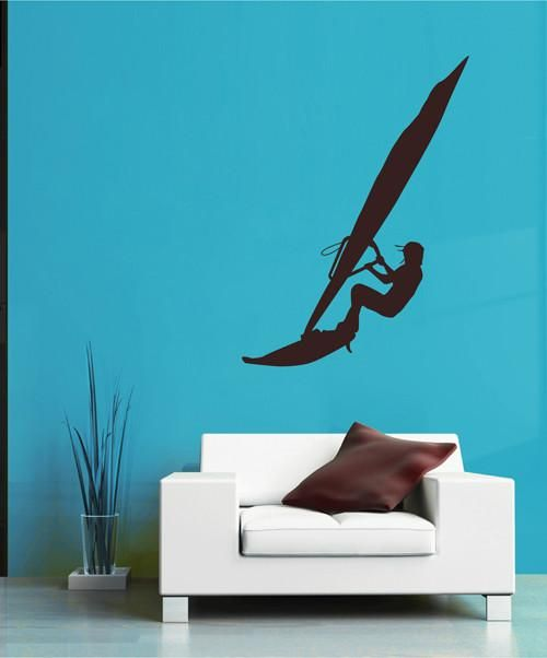 ik2596 Wall Decal Sticker windsurf sail sports shop stained living room