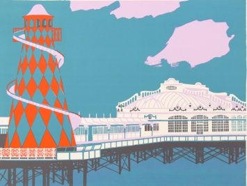 West Pier, Brighton by Geoffrey Elliott