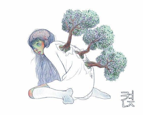 #켡 #hyunz #illust #illustration #그림 #illustrator #drawing #켠지 #artist #art #visualart #일러스트레이터 #미술작가 #소녀의등 #braintree