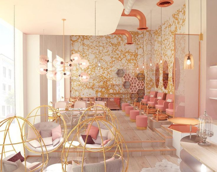 nail studio project in Dubai by @vosarchitects Wabi Cloud wallpaper