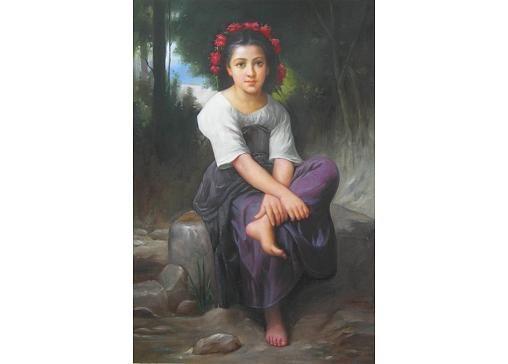 Obraz - Dívka s květy ve vlasech