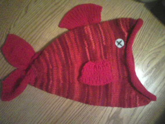 Whimsical Ugly Red Dead Fish Hat by Puddlebymarsh on Etsy, $15.00