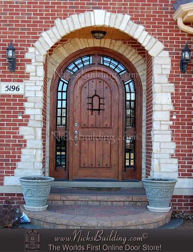 The Pompano our Rustic Round Top Entrance Door. Its Truly A Stunning Entrance Door System & 77 best Door designs we love images on Pinterest | Door design ... Pezcame.Com