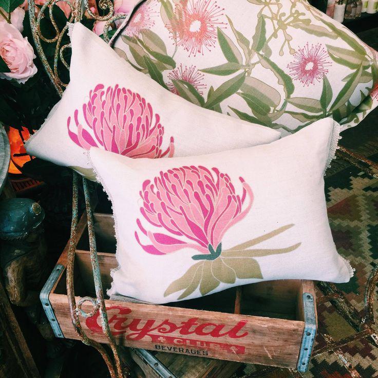 Botanical linen cushion love #rustavalon #botanical #botanicalcushion #homewares #home #interiors #rustichome #australianfloral #floral