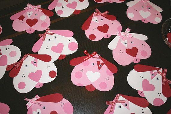 "Valentine activities:  Cute Homemade Valentine Card Design Ideas.  LOVE this ""Puppy love"" one."