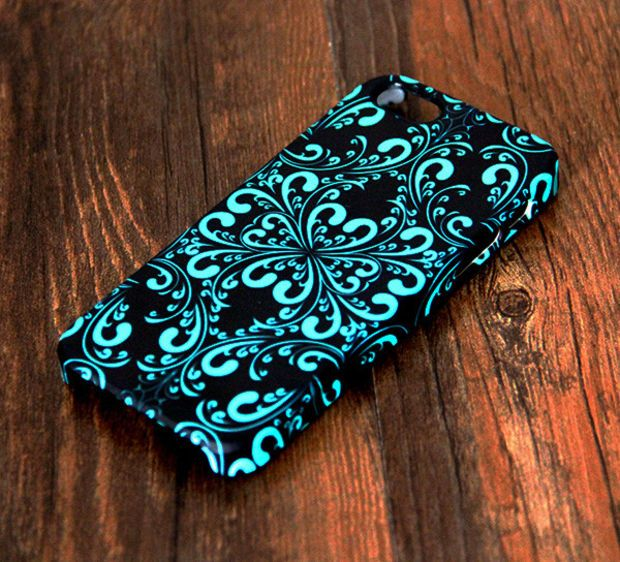 Elegant Green and Black Floral Pattern iPhone 6 Plus/6/5S/5C/5/4S/4 Protective Case 296