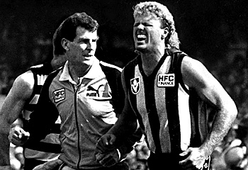 Dermott Brereton; 5 day premierships, 5 night premierships AND a WARRIOR the Hawthorn Football Club.