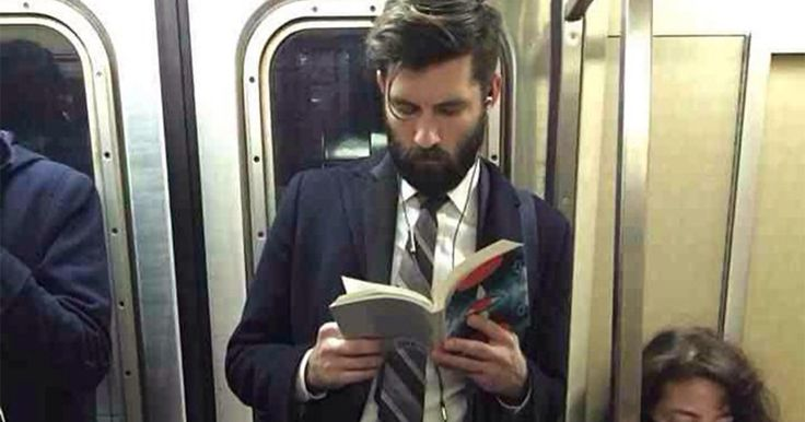 'Hot Dudes Reading' Books On Trains Is The Hottest Instagram Right Now   Bored Panda