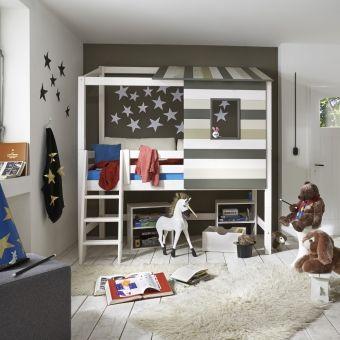 Superb Mit dem halbhohen Abenteuerbett TREEHOUSE wird das Kinderzimmer Tag f r Tag zum spannenden Spielplatz Dannenfelser Kinderm bel