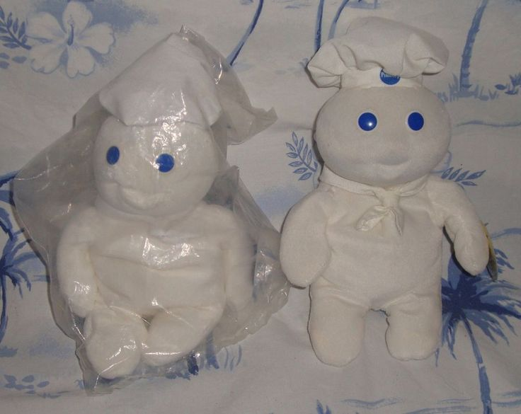 Pillsbury Dough Boy Lot Of 2, 1 sealed, 1 open  Stuffed Animals Plush Plushies #Pillsbury