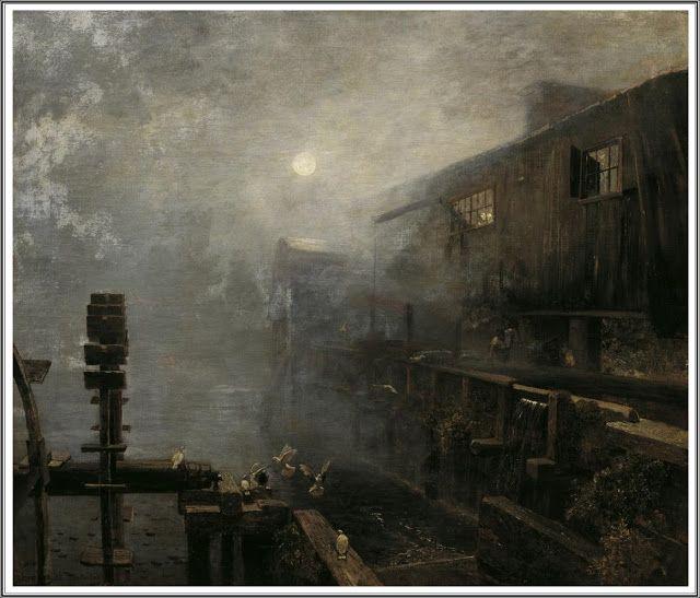 Emil Jakob Schindler (1842-1892), Nebliger Morgen, Winteranfang - 1886