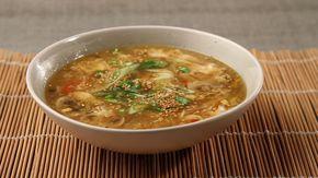 Καυτερή γλυκόξινη σούπα με μοσχάρι