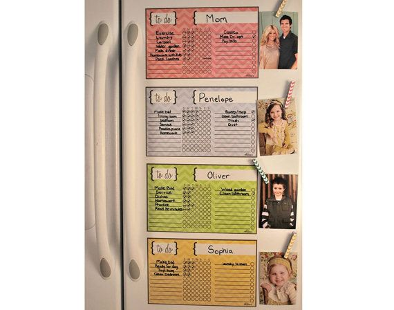 Kid Chore Magnet Magnetic Chore Chart by Alaboard on Etsy, $19.99