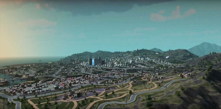 GTA V Los Santos map recreated in a game called City Skylines!