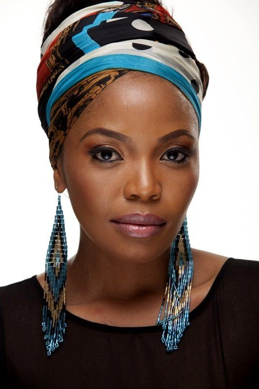 "Loving this head wrap!!!  |  Moitheri Pheto AKA ""Terry"" is a South African actress best known for her leading role as Miriam in the 2005 Oscar-winning feature film ""Tsotsi."""