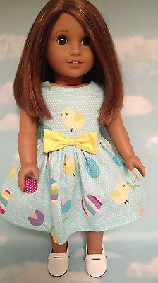 18-inch-Doll-Clothes-Easter-Dress-handmade-to-fit-18-034-American-Girl-Dolls-d10a