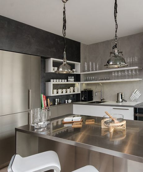 This Attic Apartment's Design Makes It A European Penthouse #refinery29  http://www.refinery29.com/design-milk/10