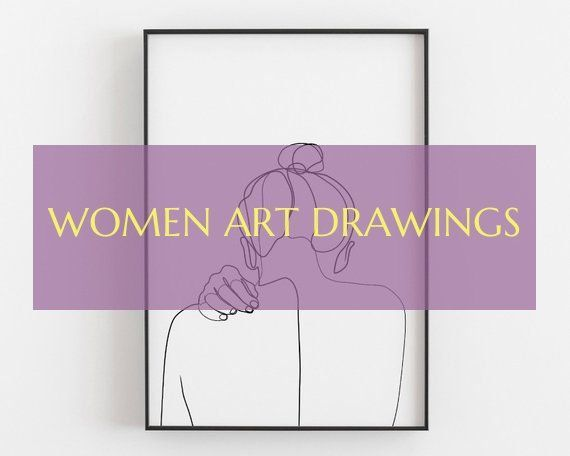 women art drawings # frauen kunst zeichnungen