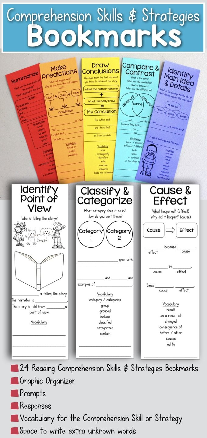 Reading Comprehension Bookmarks To Support Academic Language Comprehension Bookmarks Reading Comprehension Reading Strategy Bookmarks Reading comprehension entry level 3