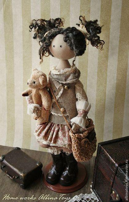 По мотивам Иделии.Бохо стиль. - коричневый,бежево-коричневый,кукла,кукла ручной работы