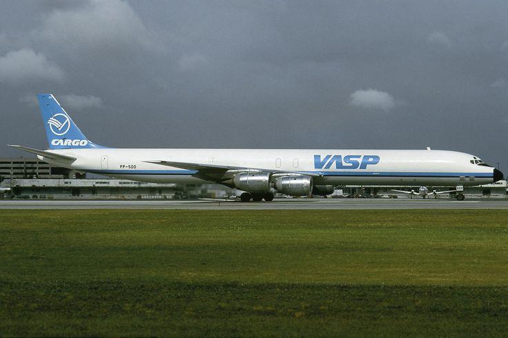 VASP Cargo PP-SOO DC-8-71F C/n 45974 MIA 28.11.1991