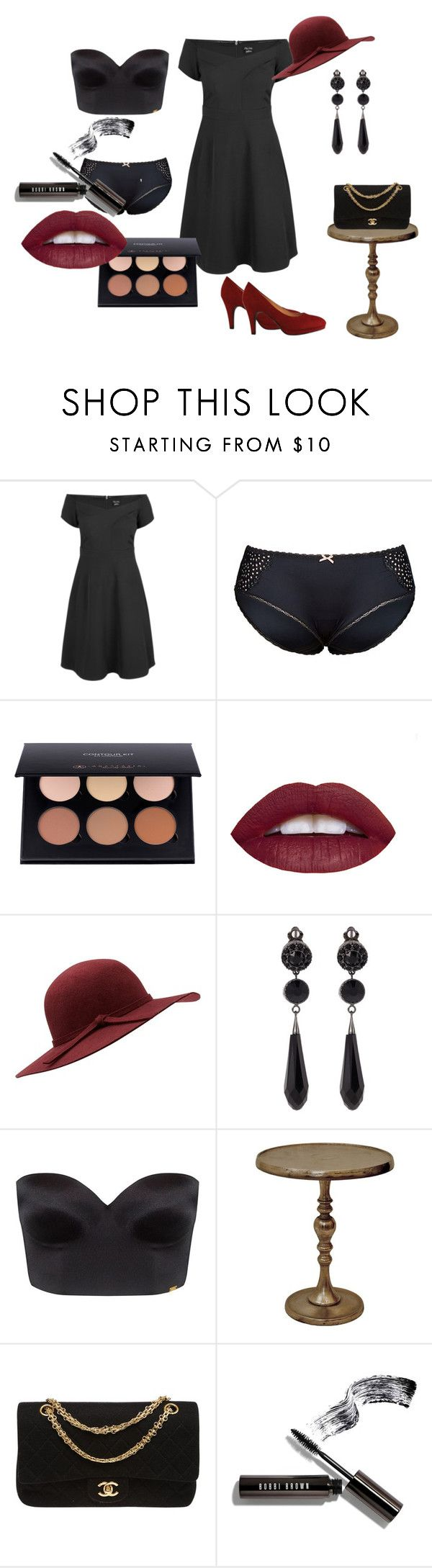 """""""Curvy Date"""" by lynetteamaro on Polyvore featuring City Chic, Givenchy, Ultimo, Renwil, Chanel, Bobbi Brown Cosmetics, SexyandCurvy and plus size dresses"""