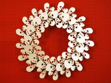 Skull Wreath by Cardboard Safari eclectic holiday decorations